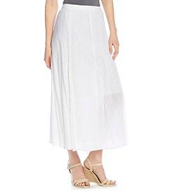 Notations® Solid Godet Skirt