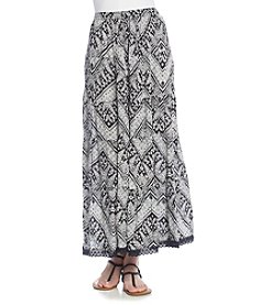 Notations® Biadere Print Tiered Skirt