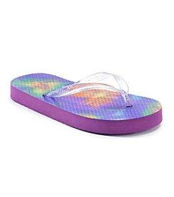 Mambo® Girls' Tye Dye Hearts Flip Flops