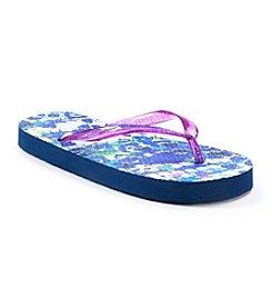 Mambo® Girls' Leopard Wave Flip Flops