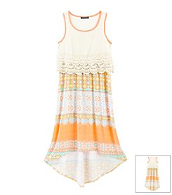 Sequin Hearts® Girls' 7-16 Popover Print Dress