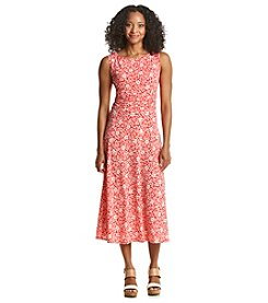 Jessica Howard® Petites' Floral Print Ruched Dress