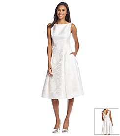 Adrianna® Papell Floral Tea Length Dress