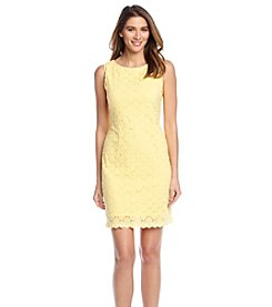 Ronni Nicole® Lemon Circle Lace Sheath Dress