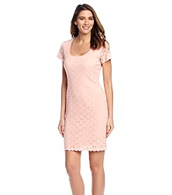 Ronni Nicole® Peach Circle Lace Dress