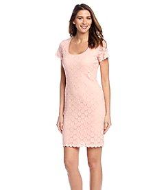 Ronni Nicole® Peach Circle Lace Dress