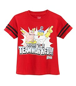 Nickelodeon® Boys' 4-7 SpongeBob Teamworked Character Tee