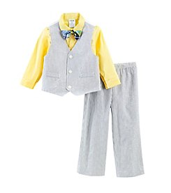 Izod® Boys' 2T-4T Seersucker Vest Set