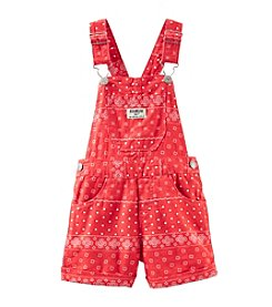 OshKosh B'Gosh® Baby Girls' Bandana Linen Shortalls