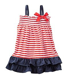 OshKosh B'Gosh® Baby Girls' 2-Piece Striped Ruffle Jersey Dress