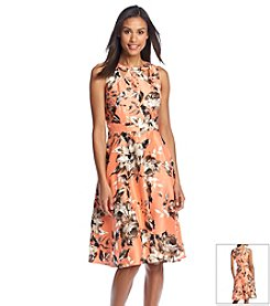 Julian Taylor Floral Cutout Dress