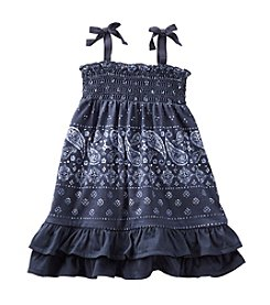 OshKosh B'Gosh® Baby Girls' 2-Piece Smocked Bandana Jersey Dress
