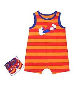 Vitamins Baby® Baby Boys' Striped Plane Romper