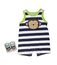 Vitamins Baby® Baby Boys' Striped Monkey Romper
