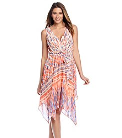 Sangria™ Printed Chiffon Dress