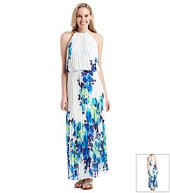 MSK® Floral Pleated Blouson Maxi Dress