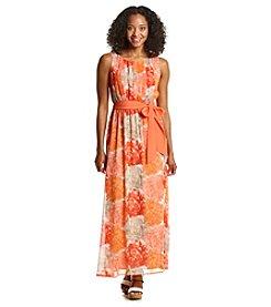 Jessica Howard® Petites' Floral Chiffon Maxi Dress