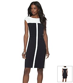 Chaps® Two Toned Day Dress