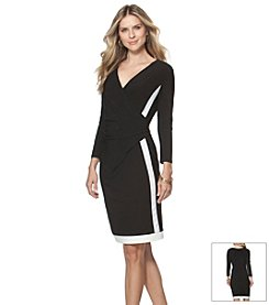 Chaps® Surplice Two Toned Dress