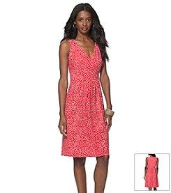 Chaps® Polka Dot Day Dress