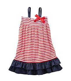 OshKosh B'Gosh® Girls' 2T-6X Striped Ruffle Jersey Dress