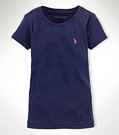 Ralph Lauren Childrenswear Girls' 2T-16 Crewneck Tee