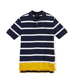 Ralph Lauren Childrenswear Boys' 2T-20 Striped Polo Top