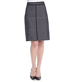 Anne Klein Tweed A-Line Skirt