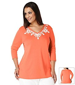Rafaella Plus Size Embroidered Tunic