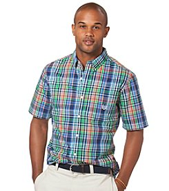 Chaps® Men's Big & Tall Short Sleeve Plaid Woven Shirt