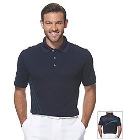 PGA TOUR® Men's Short Sleeve Linear Printed Polo