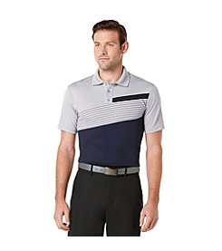 PGA TOUR® Men's Short Sleeve Printed Block Polo