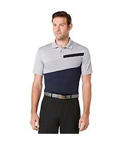 PGA TOUR® Men's Short Sleeve Printed Block Polo