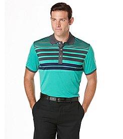 PGA TOUR® Men's Short Sleeve Printed Stripe Polo