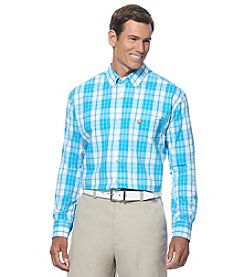 Jack Nicklaus Men's Long Sleeve Large Scale Plaid Woven Shirt