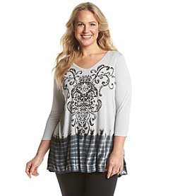 Laura Ashley® Plus Size Damask Tunic