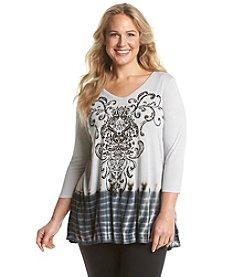 Laura Ashley® Plus Size Damask Tunic