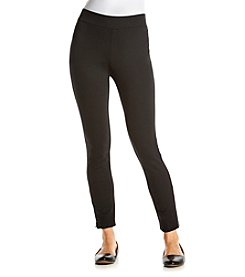Laura Ashley® Zipper Ankle Legging