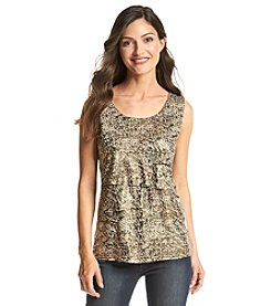 Laura Ashley® Animal Printed Tiered Tank