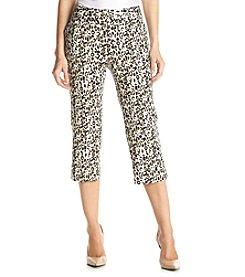 Laura Ashley® Multi Cheetah Twill Crop Pants