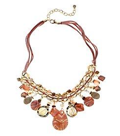 Ruby Rd.® Goldtone Statement Fringe Bead Necklace