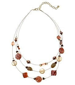 Ruby Rd.® Goldtone Three Row Illusion Necklace