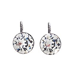 Swarovski® Silvertone Black Diamond Crystal Bella Pierced Earrings
