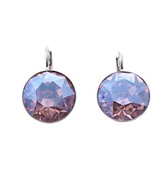 Swarovski® Silvertone Light Rose Moonlight Crystal Bella Pierced Earrings