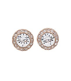 Swarovski® Rose Goldtone Angelic Pierced Earrings