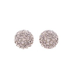 Swarovski® Rose Goldtone Blow Pierced Earrings