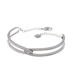 Swarovski® Silvertone Creativity Bangle Bracelet