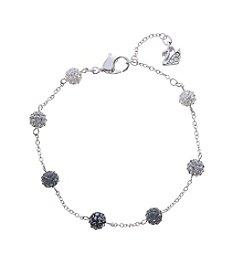 Swarovski® Silvertone Blow Soft Bracelet