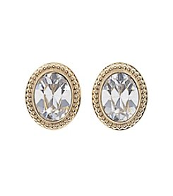 Swarovski® Goldtone Arrive Pierced Earrings