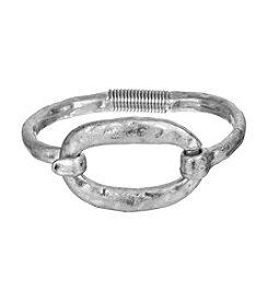 The Sak® Silvertone Organic Oval Spring Bracelet